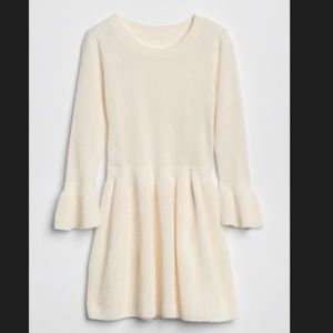 🍁🍂NWT • ivory Fit And Flare Sweater Dress GAP
